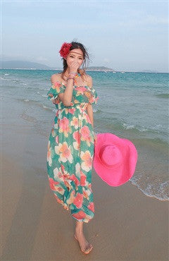 Bohemian Floral Printed Multiway Maxi Dress