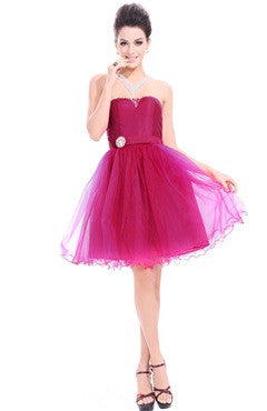 Strapless Sashes A-Line Princess Dress With Beading Detail