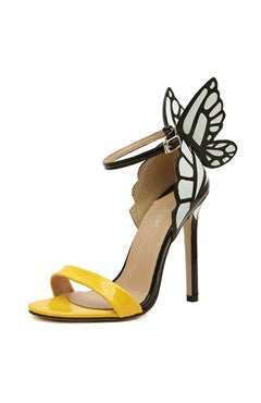 Contrast Butterfly Detailed High Heel Sandals