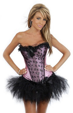 Corsets Pinks/White Sets Sexy Lingeries