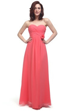 Sugar Coral Corsage Chiffon Bridesmaid Dress