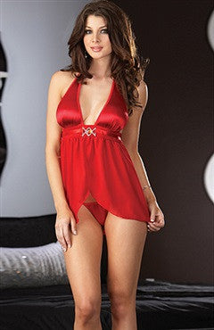 Reds Mesh Babydoll Sets Sexy Lingeries