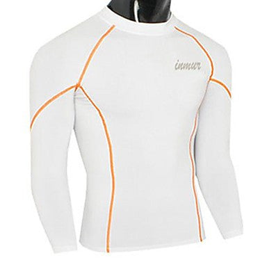 Men's Round Collar Tight Exercise Long Sleeve T Shirt