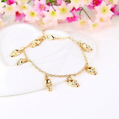 European and American Style Retro Fashion Golden Skull Bracelet
