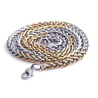Fashion Jewelry 5MM Stainless Steel Chain Necklace