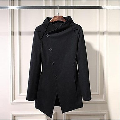 Men's Fashion Personality Button Overcoat