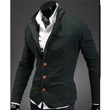 Men's Collar Color Collar Small Suit