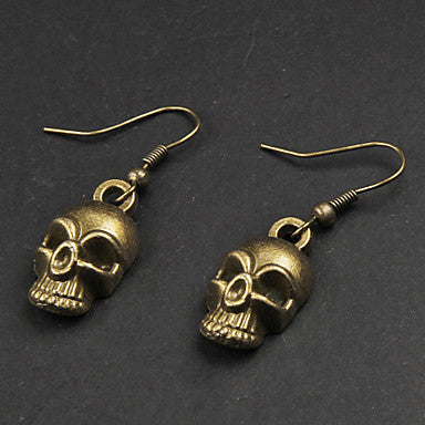 Punk Skull Copper Earrings(1 Pair)
