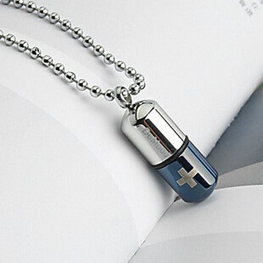 Fashion Love Letter Locket Silver Titanium Steel Pendants (1 Pc)