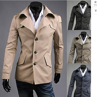 Men's Fashion Single Breasted Trench Coat