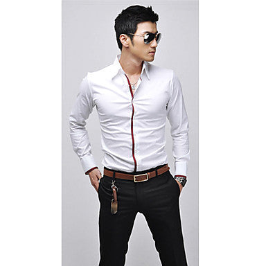 Men's Stylish Slim Fit Long Sleeve Shirt