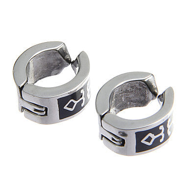 Classic Arrow Pattern Stainless Steel Silver Clip Earring(1 Pair)