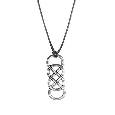 Fashion Stainless Steel Clinch Pendant Necklace