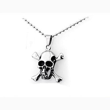 Men¡¯s Fashion Personality Punk Titanium Steel Skull Pendant Necklaces