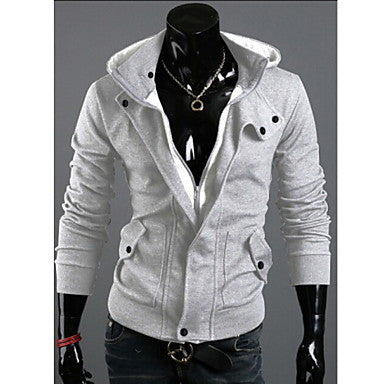 Spring Hooded Cardigan SweaterMen's Casual Jacket Brushed