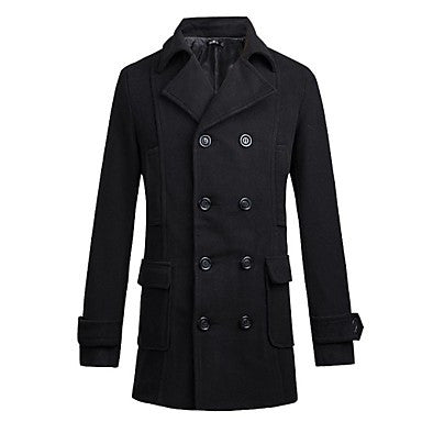 Men's All-match Take-up Double Breasted Coat