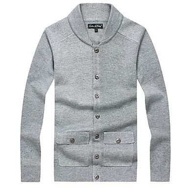 Men's Knitted Cardigan Sweater Coat