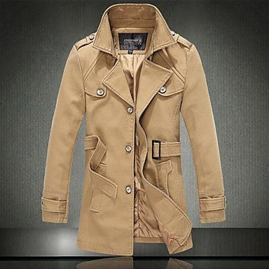 Men's Pure Color Fashion Leisure Coat Lapels