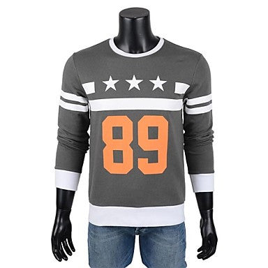 Men's Print Long Sleeve Hoodies