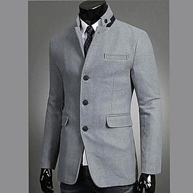 Men's Fashion Stand Collar Blazer