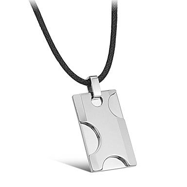 Heterosexual Cuboid Segmental Angle of Tungsten Steel Man Necklace