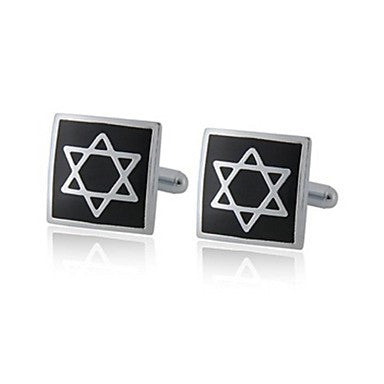 Fashion Dul-triangle Cufflinks Men`s French Style Alloy Cufflinks