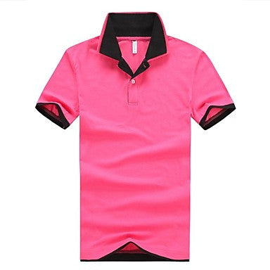 Men's Slim Lapel Casual Short Sleeve T-Shirt