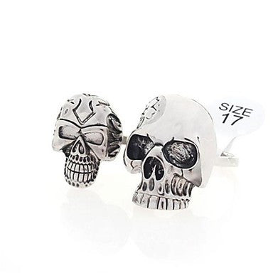 Fashion Alloy Skull Double Rings Random Color