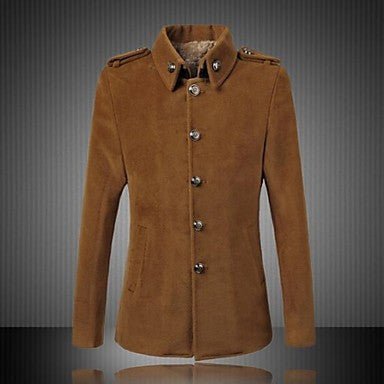 Men's Leisure Coat Collar