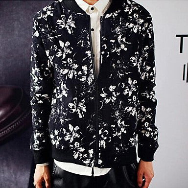 Men's New Original Autumn Fashion Black Korean Cultivating Jackets