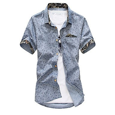 Men's Fashion Floral Print Casual Shirt