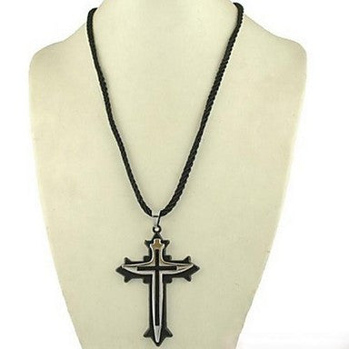 Titanium Steel Cross Shaped Necklace