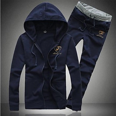 Men's Fashion Sports Casual Long Sleeve Hoodie Suits