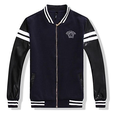 Men's Stand Collar Casual Sports Baseball Coat(More Colors)