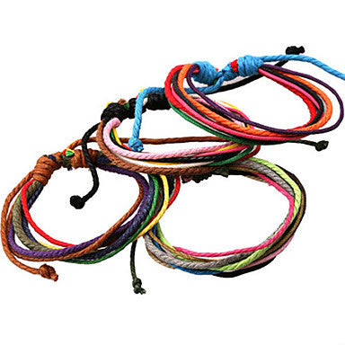 Classic Archaistic 20cm Men's Assorted Color Leather Strand Bracelet()(1 Pc)
