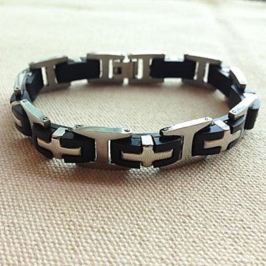 BRA0017 - Fashion Titanium Steel Bracelet 21.3 CM Men Cross
