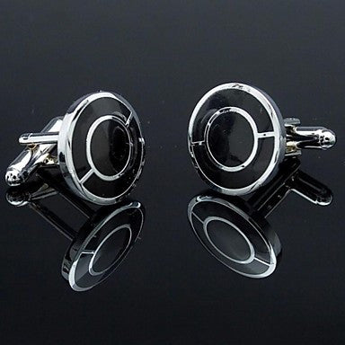 Fashion Men's Cufflinks with Double Rounds Design(1pair)
