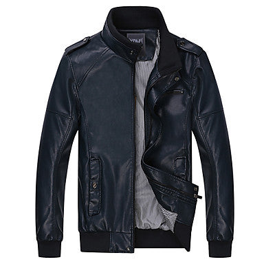 Men's Fashion Leather Boom Wind Locomotive Furs