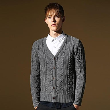 Men's Cardigan Casual Long Sweater