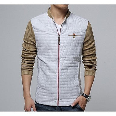Men's The New Fashion Casual Zipper Long Sleeved Jacket