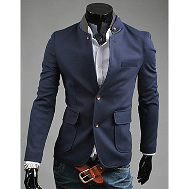Men's Korea Style Single Breasted Nylon Suit Outwear