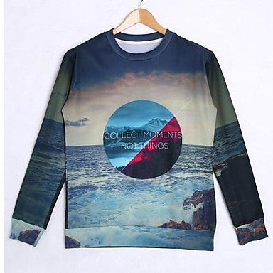 Men's Cotton Long Sleeve 3D Printed Autumn Hip Pop Sweatshirts