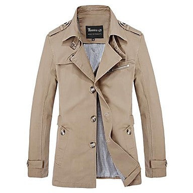 Men's Trench Coat Lapel Big Yards