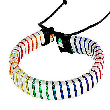 Vintage Multicolor Punk Men's Friendship Bracelet(1 Pc)