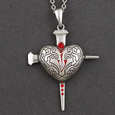 Retro Personality Night Heart Pendant Necklace