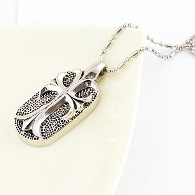 Fashion Roman Style Cellular Titanium Steel Pendant Necklace