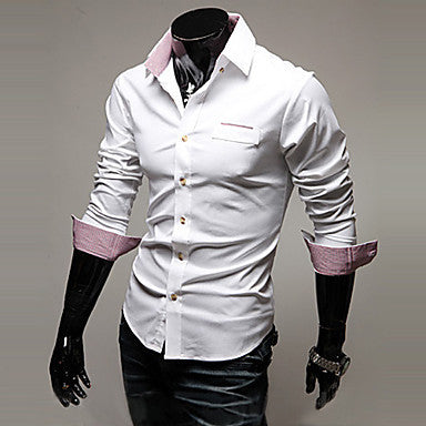 Men's Stitching Wash-and-wear Shirt