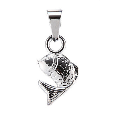 Exquisite High Quality Shining Silver Small Carp Pendant(1 Piece)