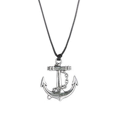 Fashion Stainless Steel Anchor Pendant Necklace