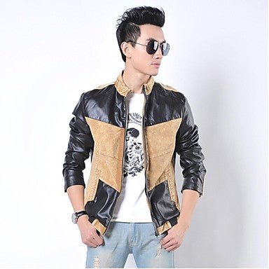 Men's Mock Neck Mosaic Zip Long Sleeve Jacket(More Colors)